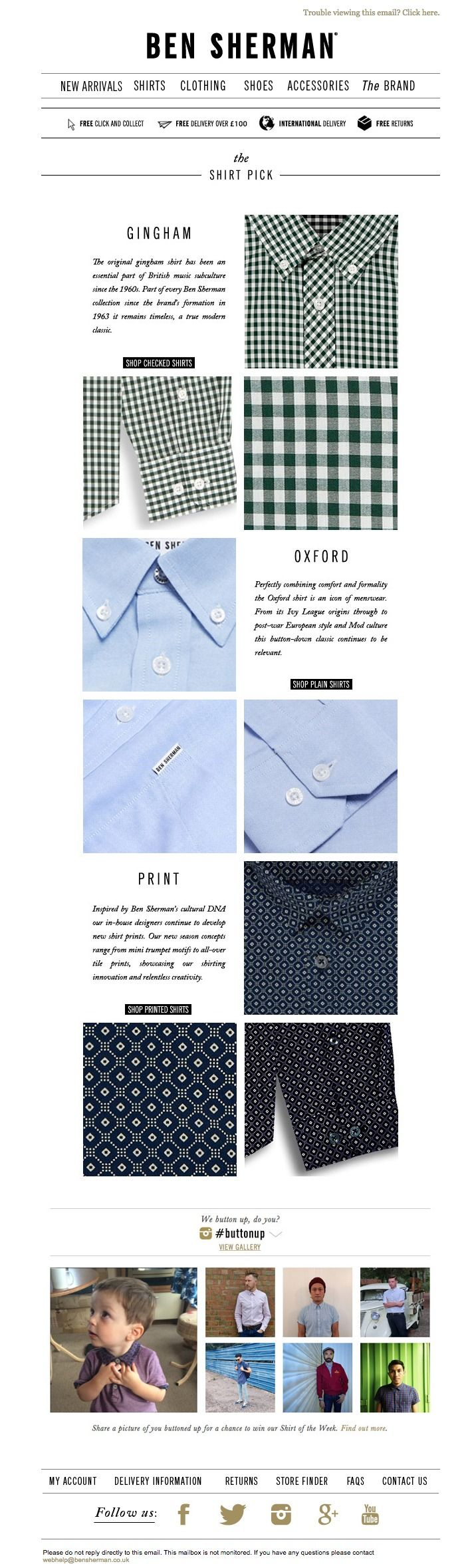 #newsletter Ben Sherman 10.2014 Button Up with our shirt picks