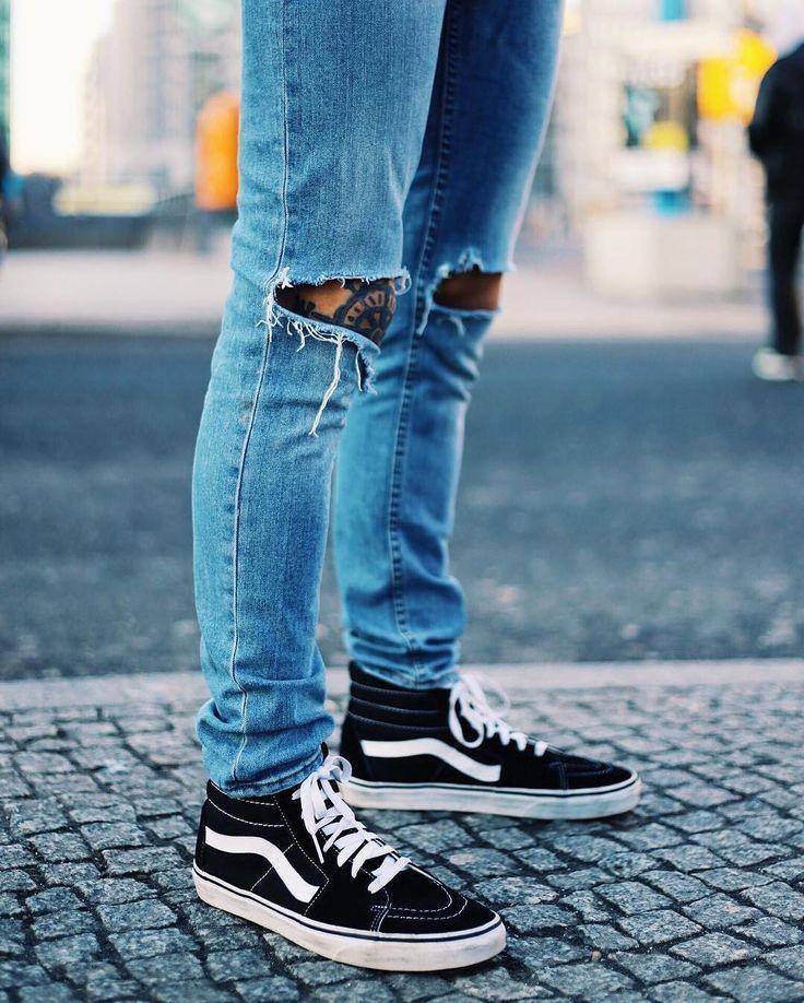 Mens outfits, Vans sk8 hi outfit