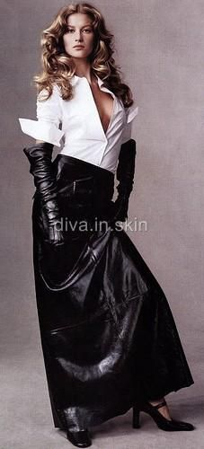 SEXY LAMBSKIN LEATHER HIGH WAIST LONG GOTHIC SKIRT JUPE EN CUIR COCKTAIL PARTY