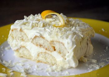 """Limoncello Tiramisu"" Tiramisu is only sometimes a desert I consider ""good""... but this... this could be yummy."