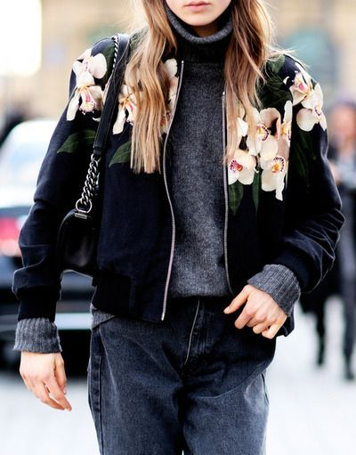 20 Great Looks with a bomber jacket   20 looks décontractés avec un bomber…