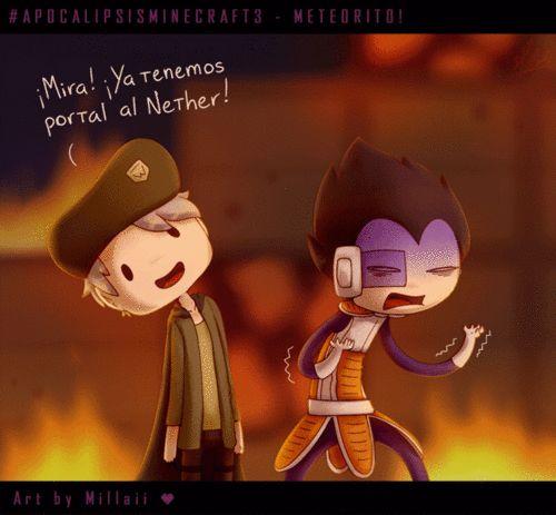 Apocalipsis minecraft 3 El meteorito -¡Mira, ya tenemos portal al nether! -¡¡¡Me cago en todo Willy, me cago en todo!!!