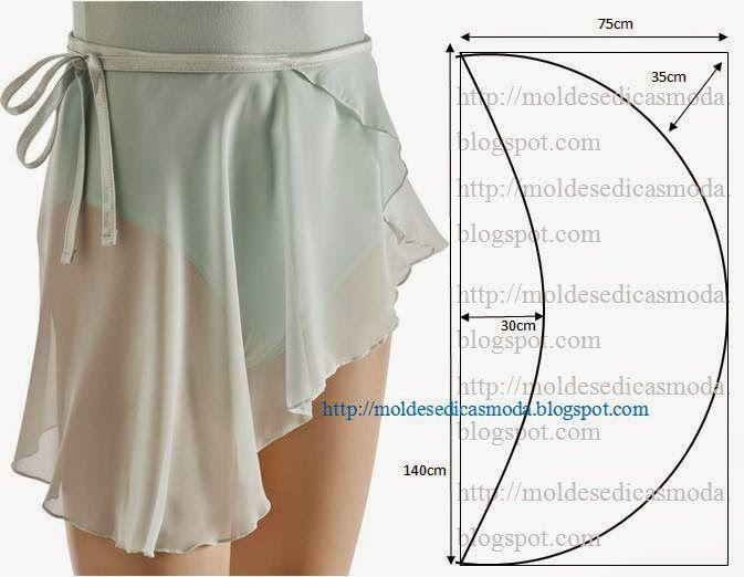 Falda de ballet de fácil de hacer.  Por lo general, este tipo de modelos son caros y difíciles de encontrar porque la demanda también es escasa.  Aunque hay una gran cantidad: