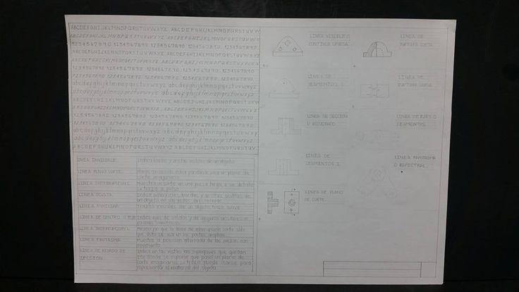 Letras técnica / líneas