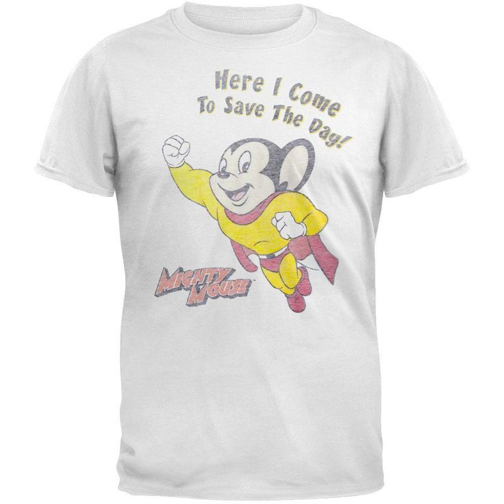 Mighty Mouse Here I Come Save Day Shirt