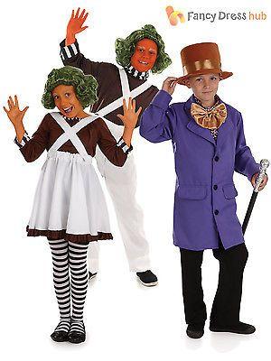 Kids Oompa Loompa Fancy Dress Costume Chocolate Factory World Book Day Boys Girl | Boys' Fancy Dress | Fancy Dress - Zeppy.io