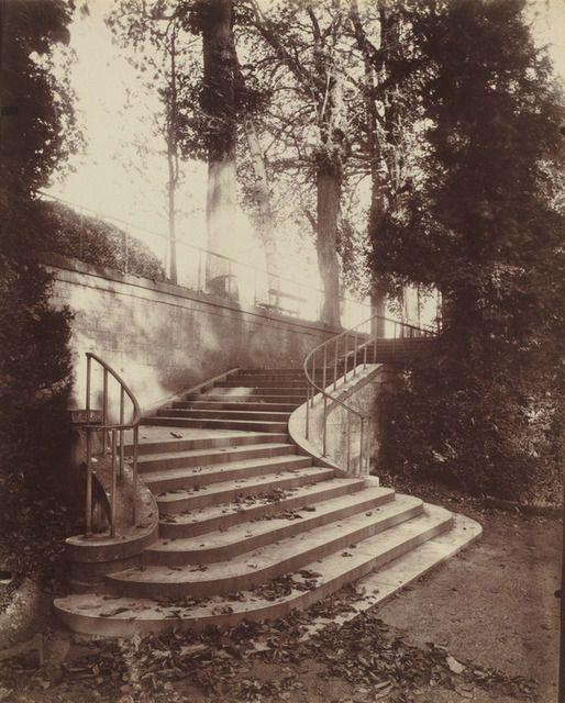 by Eugène Atget, The Steps at Saint-Cloud, 1906