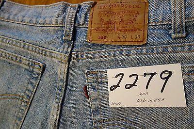 #2279 Levi's 550 Relaxed Fit 100% cotton men jeans W 30 x 30 L.