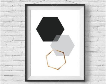 Teal Honeycomb Print Teal Honeycomb Wall Art by PrintAvenue