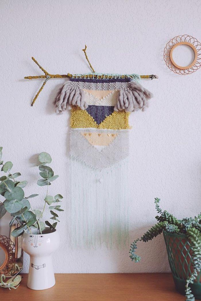 wandideen wanddeko string art wandgestaltung diy idee makramee - wandideen