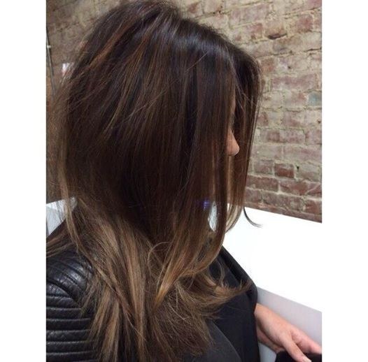 Carmel balayage wiith dark brown Colour by HBK Hairdressing Boutique in Melbourne