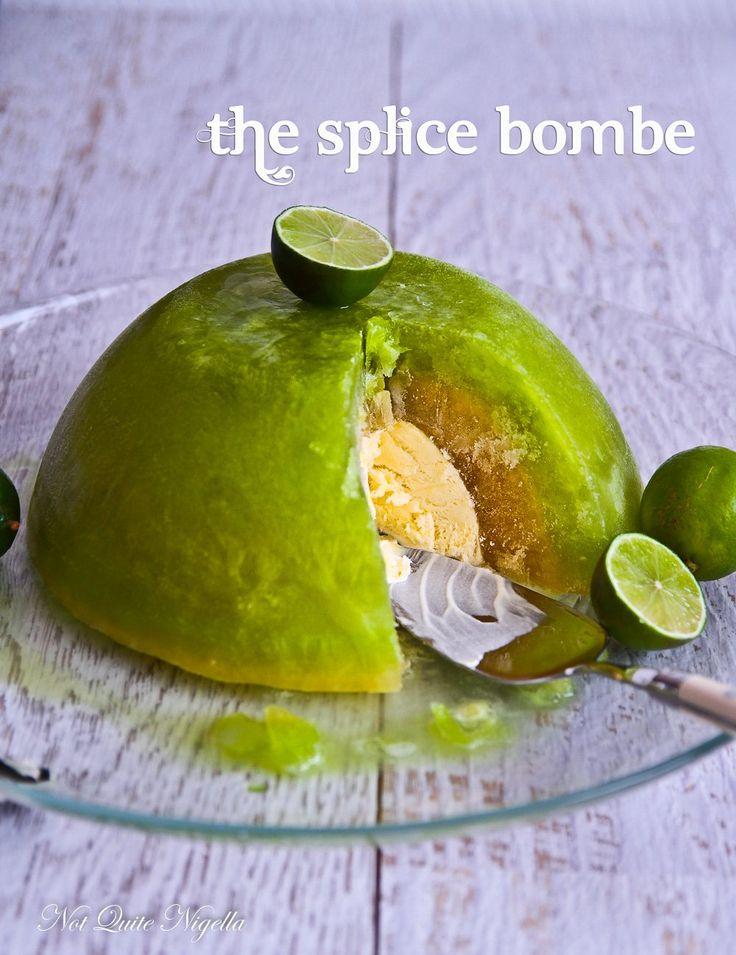 A Splice {Pineapple Lime} Bombe for Australia Day!