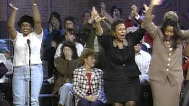 The Oj verdict announced crowd reacted live on Oprah's show.      Not Guilty.    When it was announced that OJ Simpson was found not guilty of both murders, majority of America's black population cheered in approval, while majority of America's white population expressed disbelief over justice not served.