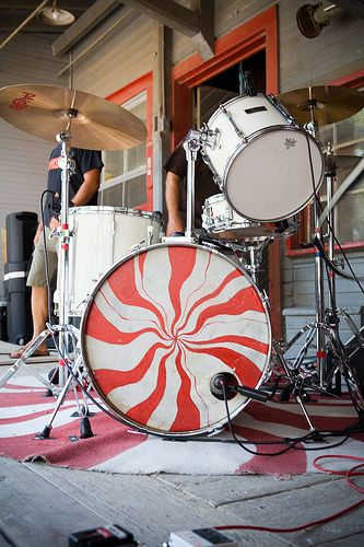 Meg White's drum kit by Johnny Madden, via Flickr