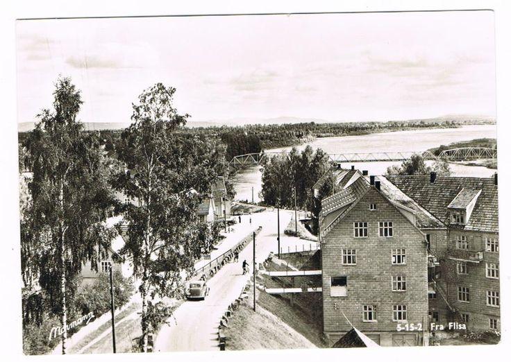 Flisa i Solør, Hedmark. 1950-tall. Foto: Normann
