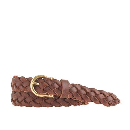 "A staple for prep-school scholars and the well-dressed by the sea, this braided leather belt is the piece that literally pulls together every outfit. <ul><li>Width: 7/8"".</li><li>Leather.</li><li>Zinc buckle.</li><li>Import.</li><li>Online only.</li></ul>"