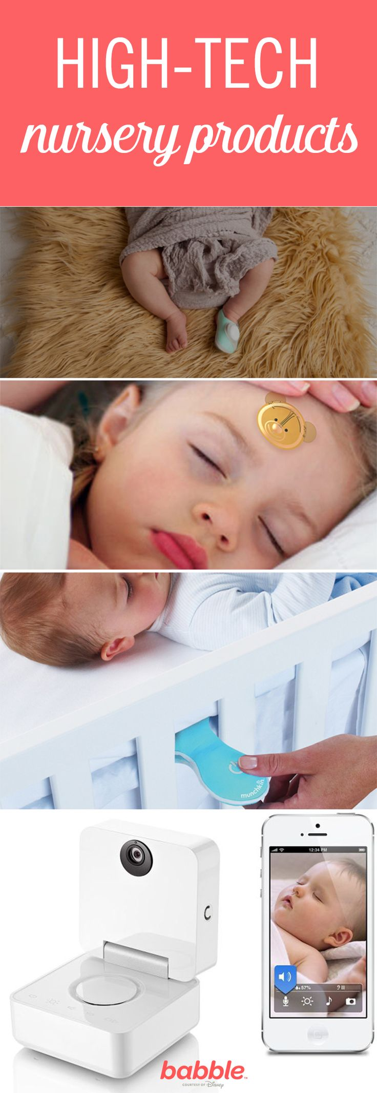 As technology continues to expand, we can expect to see new high-tech products for our nurseries that could potentially change our lives (and the lives of our little ones). Luckily, most of these futuristic nursery gadgets seem totally helpful and great for babies. Click for a list of exciting products that are perfect for tech-friendly parents.
