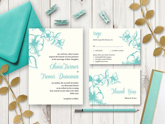 25 best Destination Wedding Invitation Templates Hawaii images on