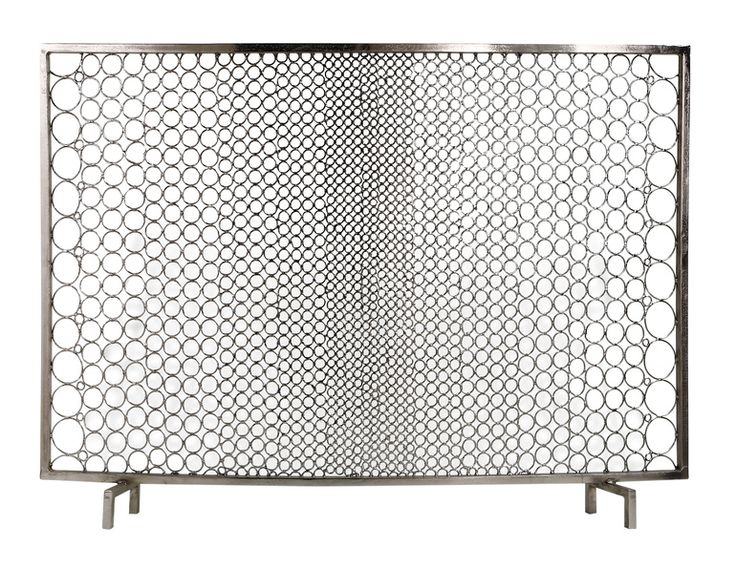 mid century fireplace screen