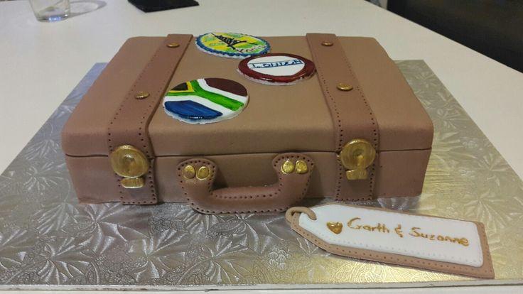 Third Wedding Anniversary (leather) cake