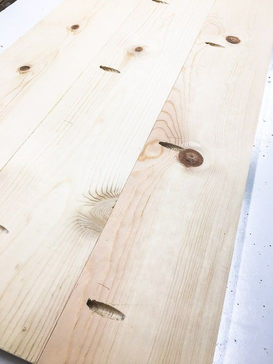 Several boards joined together with pocket hole screws