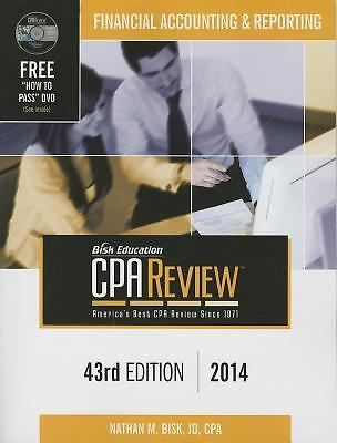 Bisk CPA Review Financial Accounting & Reporting 43rd Edition 2014 LIKE NEW #Textbook