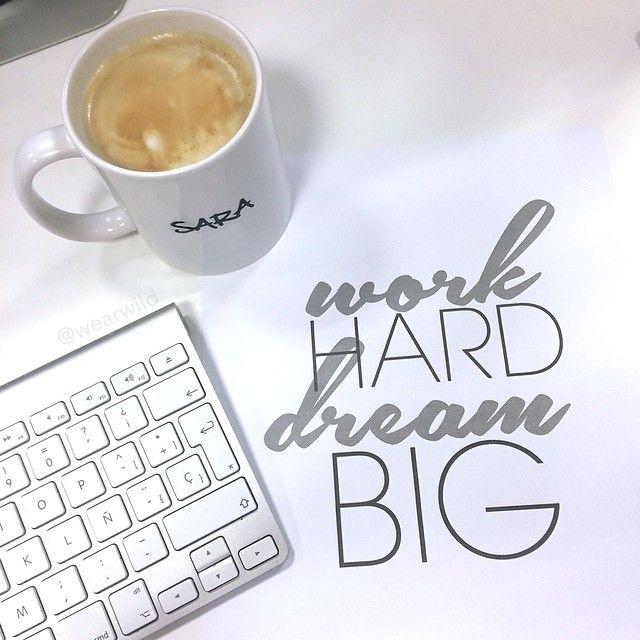 coffee, mac, apple, dream big, work hard
