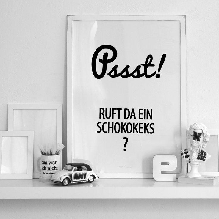 Spruch Schokokeks... #design3000 Psssst!