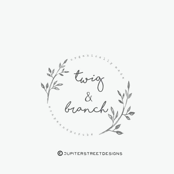 Laurel Logo-Branch Logo-Watercolor by JupiterStreetDesigns on Etsy