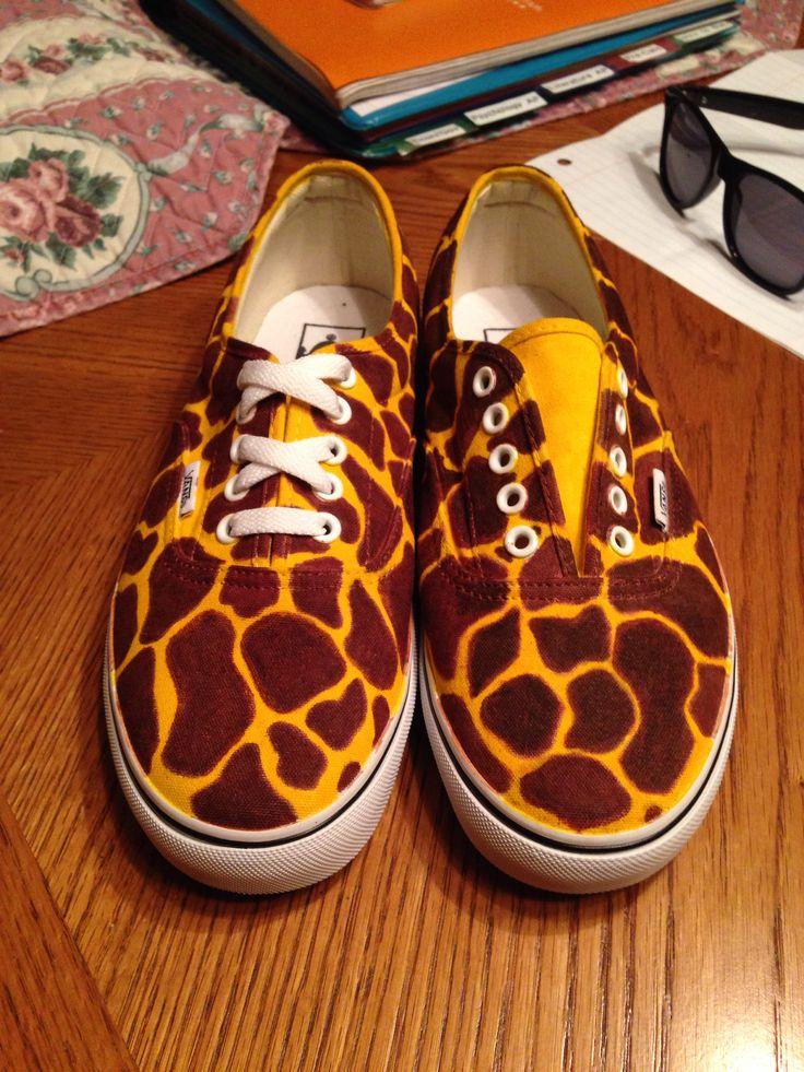 Giraffe Print Tennis Shoes