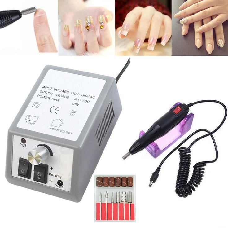 Hot Sale Nail Drill Electric Nail Art Drill Machine Nail Equipment Manicure Machine Drill Accessoires US/EU/AU/UK Plug #Affiliate