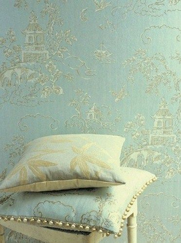Soft And Pale Oriental Style (Chinese Bridges Wallpaper From The Emporers  Garden Collection By GP U0026 J Baker. Available In Charcoal With Gold