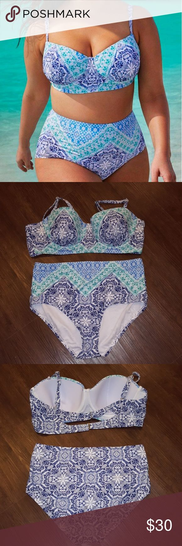 🌴☀️ PLUS SIZE ▪️ Gorgeous Print Bikini ☀️🌴 Excellent condition! Worn and washed one time, has been washed in cold water and hung dry. Swim Sexy bikini from swimsuitsforall. High waisted bottoms, padd-less top with adjustable straps that can be changed to a cross-back. Two closures on back with a cut-out detail. 82% nylon, 18% spandex, lining 100% polyester. Both size 16 and fit true to size Such a beautiful and flattering swimsuit! Price is firm unless bundled. 💕 [ I do not trade ]  […