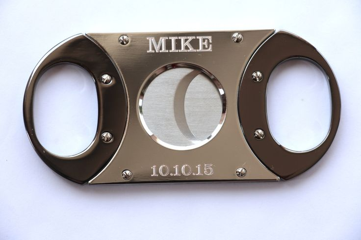 Personalized Cigar Cutter, Groomsmen Gift, Custom Cigar Cutter, Guillotine Cutter, Golf Gift, Gift for Men, Father's Day Gift, Groomsman by EngravingsOnDemand on Etsy https://www.etsy.com/listing/231832910/personalized-cigar-cutter-groomsmen-gift