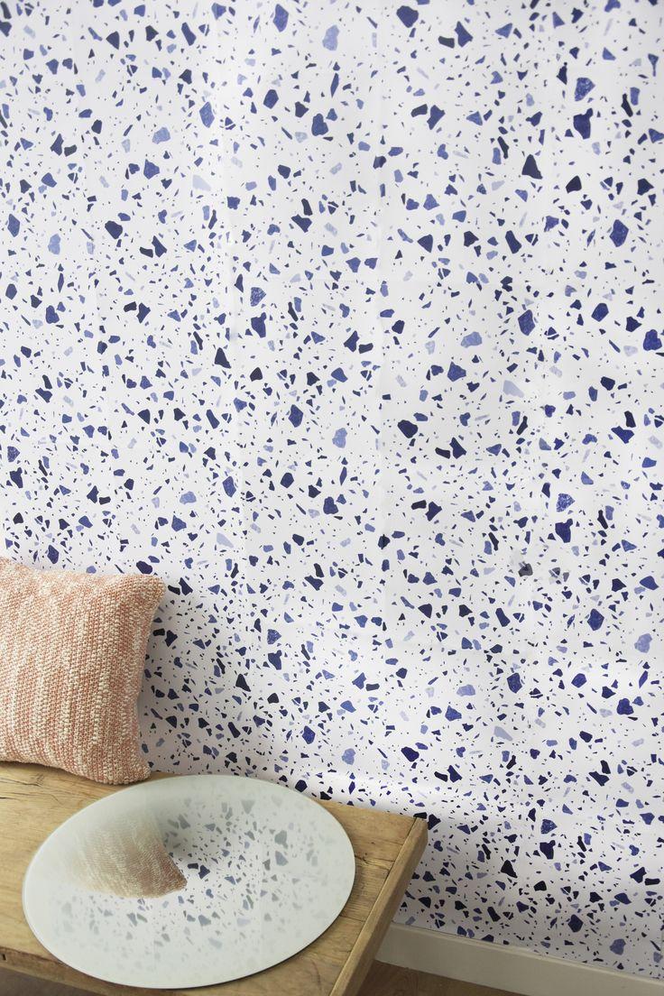 Best 25 terrazzo ideas on pinterest terrazzo flooring - Papier peint retro ...