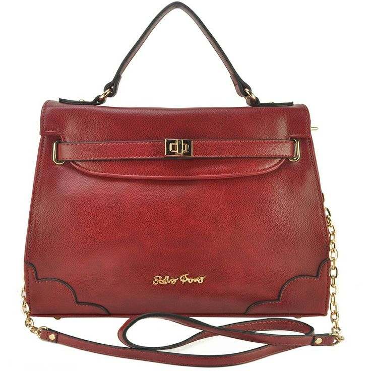 Sally Young Twist Lock Brand Handhold Bag With Chain £36