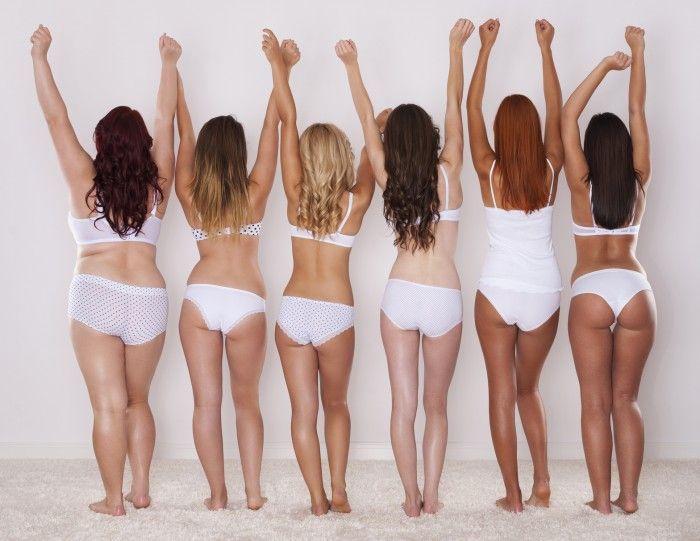Verschiedene Figurtypen Von Frauen
