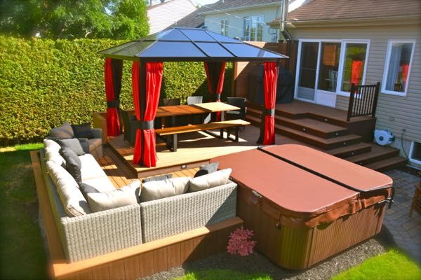 Patio plus terrasses paliers maison pinterest we for Patio exterieur en bois
