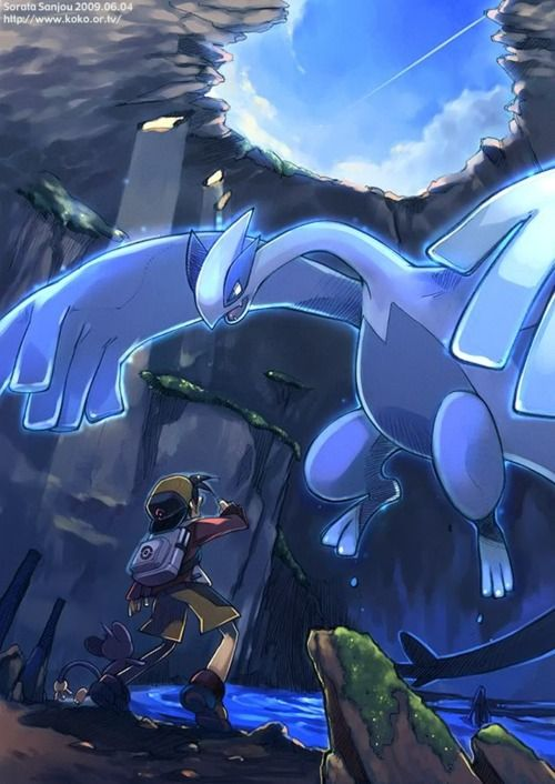 Pokemon Soul Silver- How you feel when you encounter Lugia <3 I have always loved Lugia, he is beautiful.