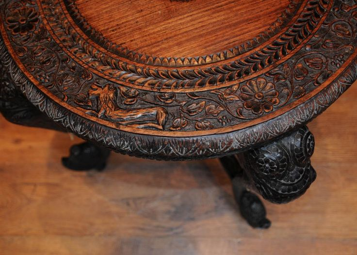 Hand Carved Antique Coffee Tables