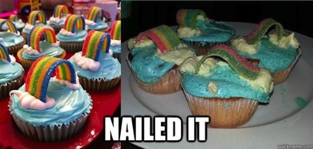 Rainbow Cupcakes: | 28 People Who Definitely Totally Nailed It