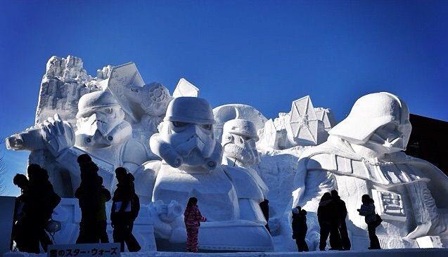Japanese Army Builds Gigantic Star Wars Snow Sculpture - My Modern Met