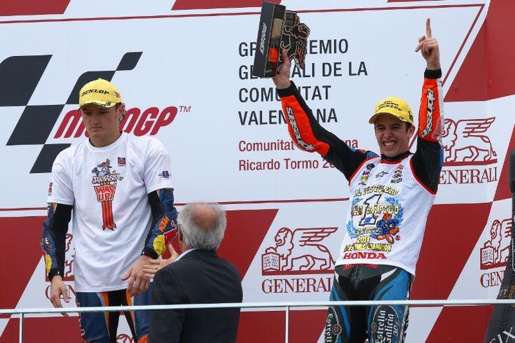 Miller and Marquez, Moto3, Valencia MotoGP 2014