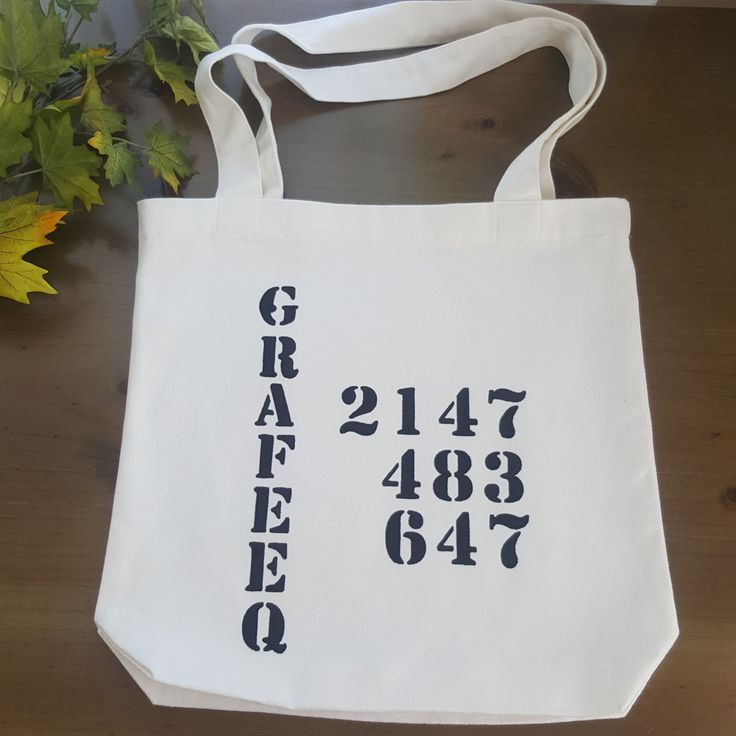 32 bit Grafeeqs bag - 32 bit integer  - computer geek tote bag hand painted by Grafeeq on Etsy