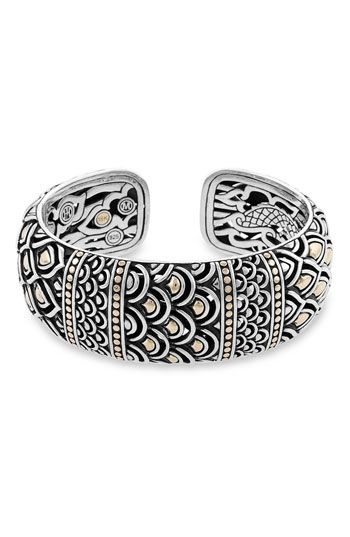 John Hardy Naga Kick Cuff - love the sterling and gold together