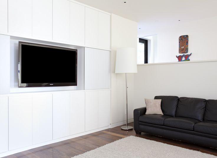 Medies Centre/Entertainment  Living Room Courtesy Of California Closets Www. Californiaclosets.com