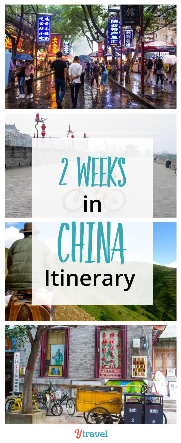 2 week itinerary for China. Tips on the best places to visit in China, accommodation and tours. #China #travel
