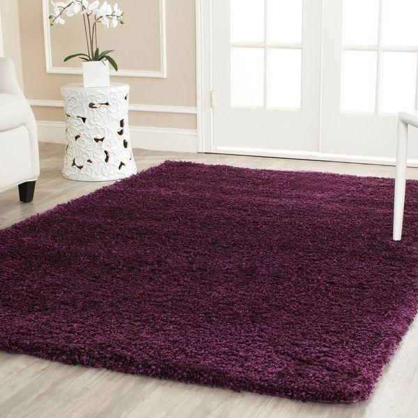 Safavieh Cozy Solid Purple Shag Rug (8' x 10') - Overstock™ Shopping - Great Deals on Safavieh 7x9 - 10x14 Rugs