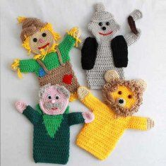 Storybook Puppets: Wizard of Oz Set 2 Pattern http://www.maggiescrochet.com/storybook-puppets-wizard-of-oz-set-2-pattern-p-399.html #storybook #puppets #wizardofoz #crochet
