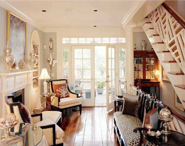 Hallway love, stairway loveStairs, Floors, Chairs, Living Room, Little Spaces, Sitting Room, Small Spaces, Furniture, Antiques